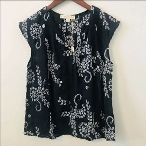 Lovestitch Black Embroidered Top Size M